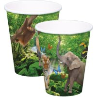 Contient : 1 x 8 Gobelets Safari Party
