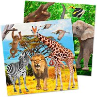 Contient : 1 x 20 Serviettes Safari Party