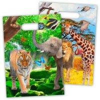 Contient : 1 x 8 Pochettes à Cadeaux Safari Party