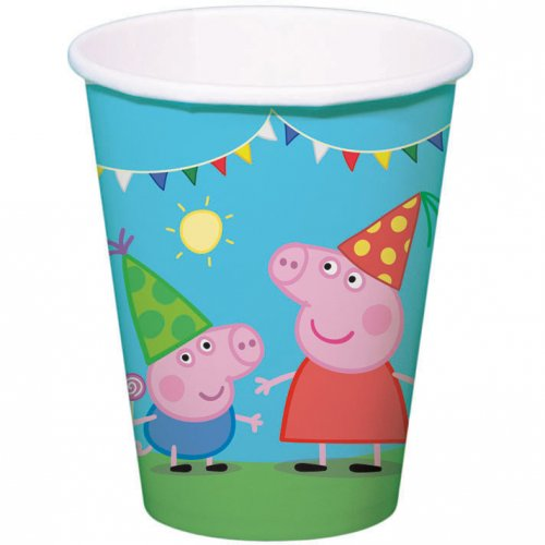 8 Gobelets Peppa Pig Party