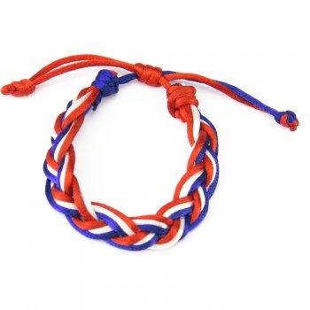 Bracelet tressé Tricolore
