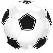 Ballon Mylar Foot Noir/blanc