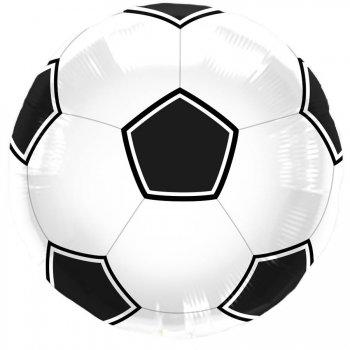 Ballon Hélium Foot Noir/blanc
