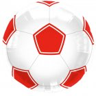 Ballon Hélium Foot Rouge/blanc