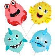 Kit Ballons à Décorer Animaux Marin