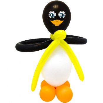 Kit 2 Ballons Pingouins Géants DIY (65 cm)