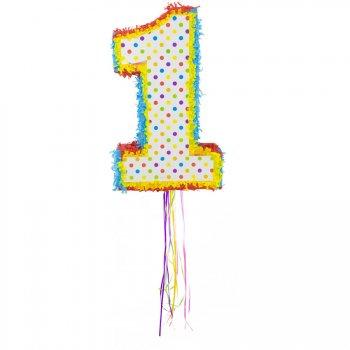 Pull Pinata Chiffre 1 Multicolore (49 cm)