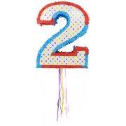 Pull Pinata Chiffre 2 Multicolore (49 cm)