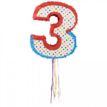 Pull Pinata Chiffre 3 Multicolore (49 cm)