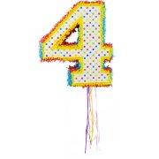 Pull Pinata Chiffre 4 Multicolore (49 cm)
