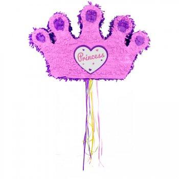 Pull Pinata Couronne de Princesse Rose/Violet (49 cm)
