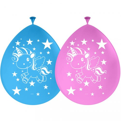 8 Ballons Licorne Kawaïï