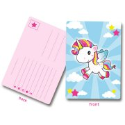 8 Cartes d'Invitations Licorne Kawaïï