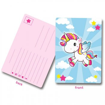 8 Cartes d Invitations Licorne Kawaïï