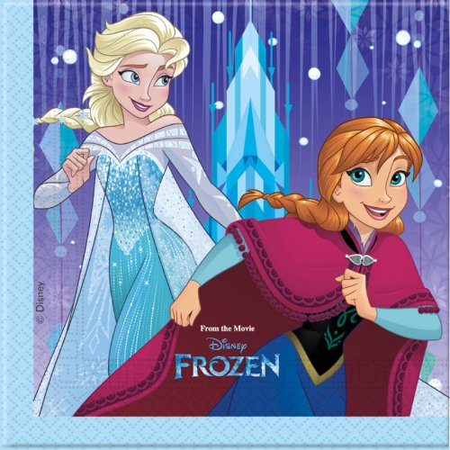 20 Serviettes Reine des Neiges Frozen