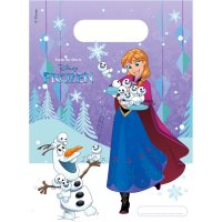 Contient : 1 x 6 Pochettes à cadeaux Reine des Neiges Frozen