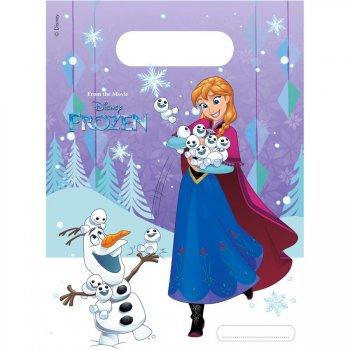 6 Pochettes à cadeaux Reine des Neiges Frozen
