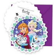 6 Invitations Reine des Neiges Frozen