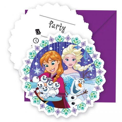 6 Invitations Reine des Neiges Frozen