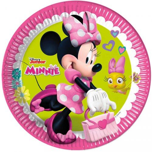 8 Assiettes Minnie Happy