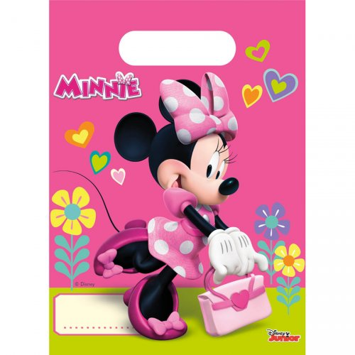 6 Pochettes à cadeaux Minnie Happy
