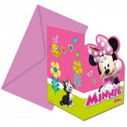 6 Invitations Minnie Happy