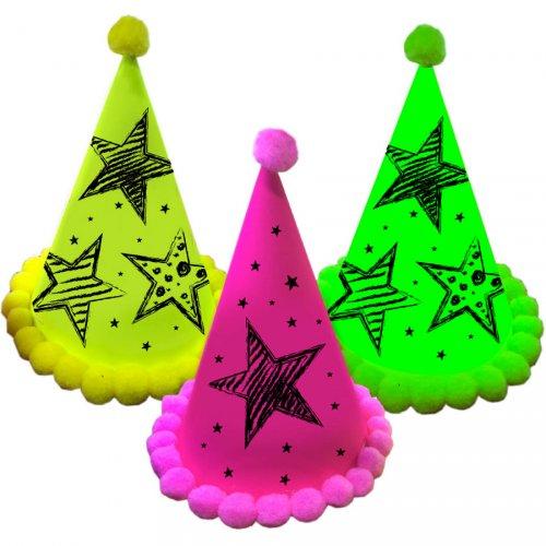 3 Chapeaux Etoiles Néon Party