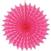 1 Eventail Déco Néon Party Rose (45 cm)