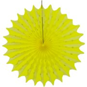1 Eventail Déco Néon Party Jaune (45 cm)