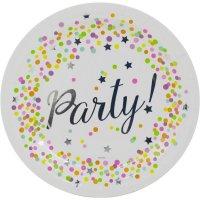 Contient : 1 x 8 Assiettes Confettis Party
