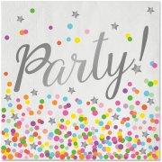 20 Serviettes Confettis Party