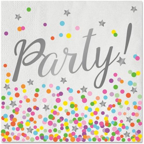 20 Serviettes Confettis Party