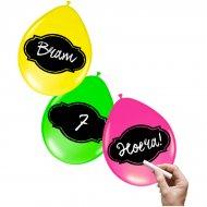 6 Ballons Néon Ardoise