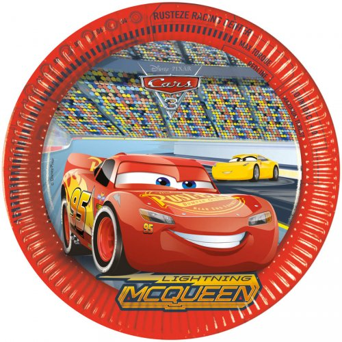 8 Assiettes Cars 3