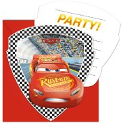 6 Invitations Cars 3