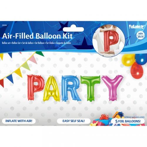 5 Ballons Lettres PARTY (36 cm)
