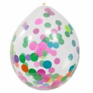 4 Ballons Confettis Multicolores