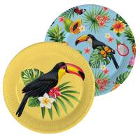 Contient : 1 x 8 Assiettes Toucan Party