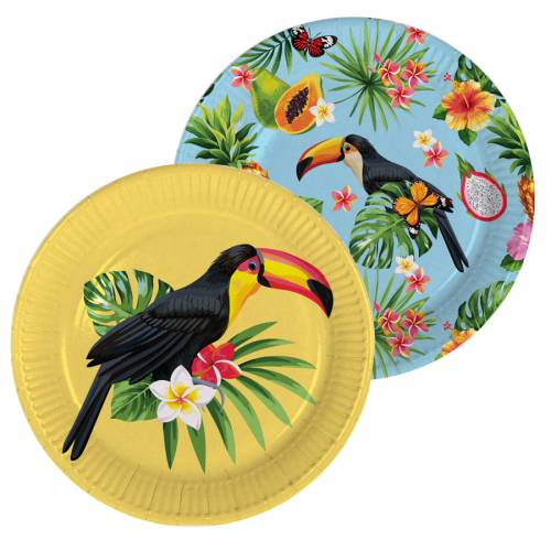 8 Assiettes Toucan Party