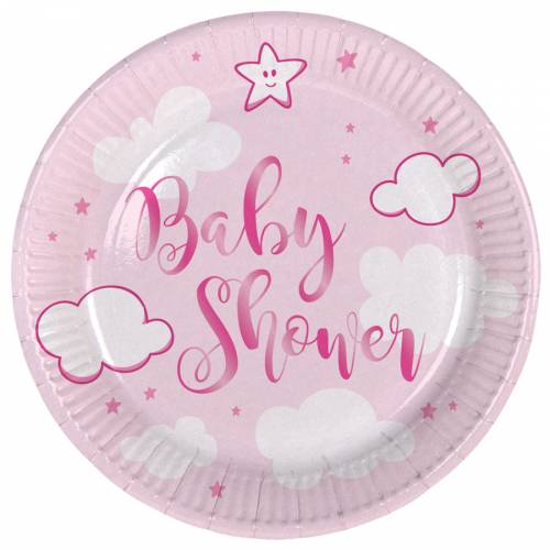 8 Assiettes Baby Shower Fille
