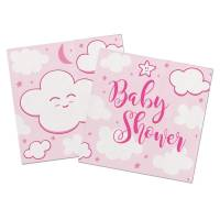Contient : 1 x 20 Serviettes Baby Shower Fille