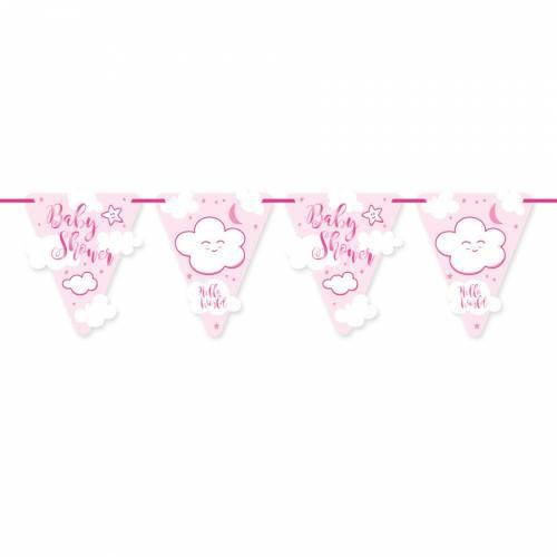 Guirlande Baby Shower Fille (6m)
