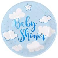 Contient : 1 x 8 Assiettes Baby Shower Garçon