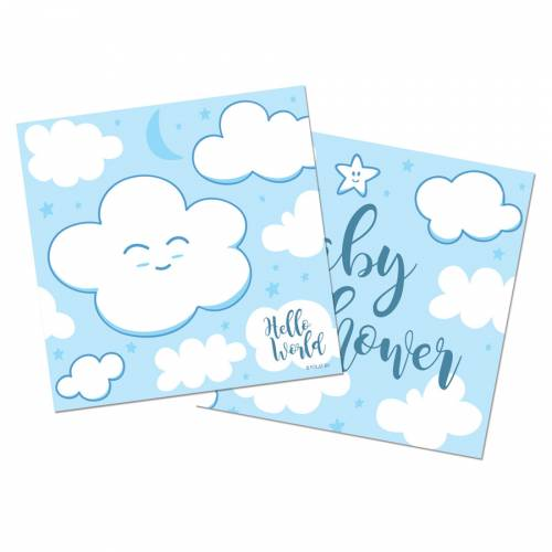 20 Serviettes Baby Shower Garçon