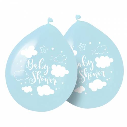 8 Ballons Baby Shower Garçon
