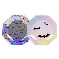 Contient : 1 x 6 Assiettes Halloween Iridescent Pastel