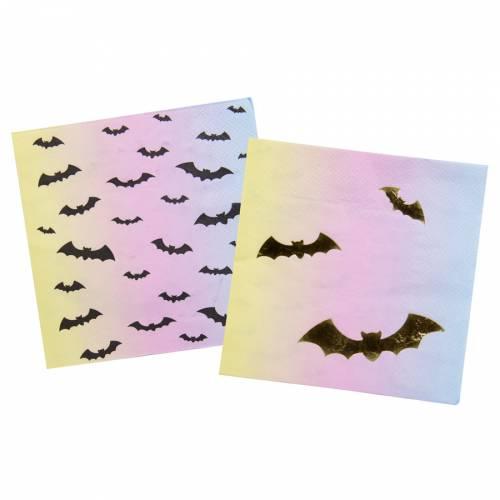 16 Serviettes Halloween Iridescent Pastel