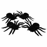 4 Grosses Araignées Velues (11 cm)