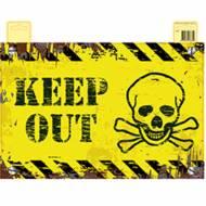 Affiche de Porte Keep Out