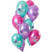 Bouquet 12 Ballons Dino Violet Métallique
